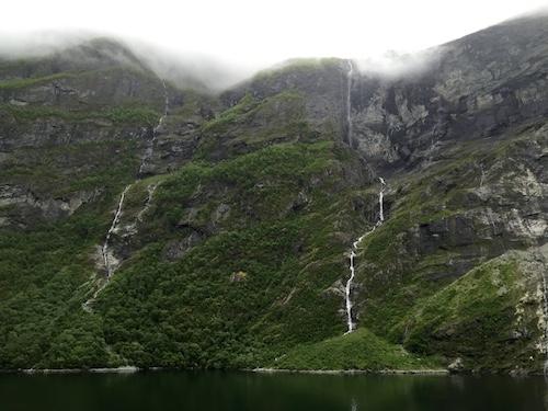 fjord waterfalls