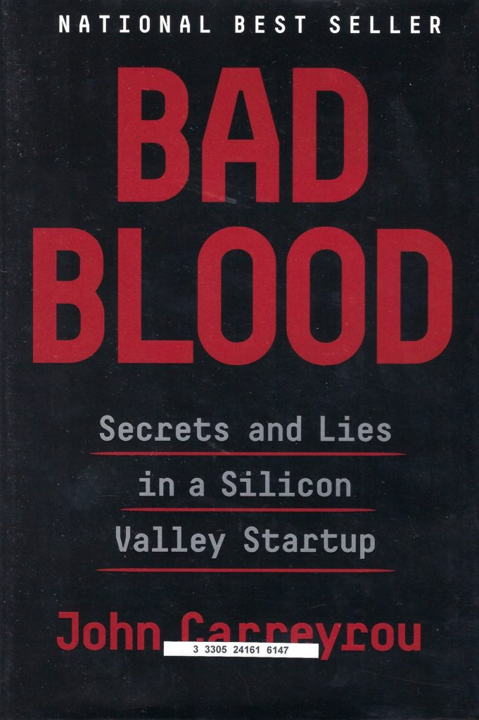 Book Cover of Bad Blood by John Carreyrou