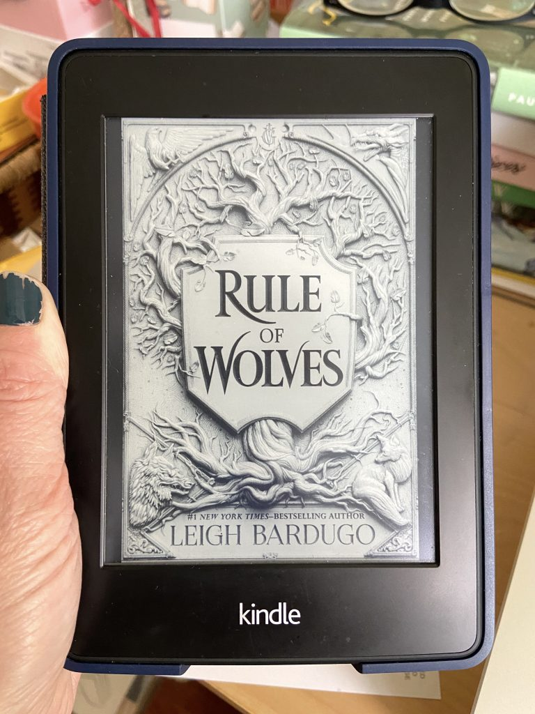 Rule of Wolves cover displayed on a kindle.